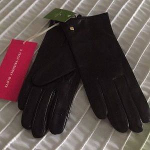 Kate Spade Leather Gloves. Size L